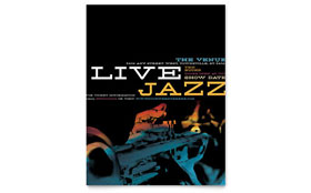 Jazz Music Event - Leaflet Template