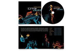 Jazz Music Event - CD Booklet Template Design Sample