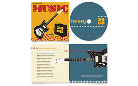 Live Music Festival Event - CD Booklet Imprint Sample Template