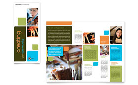 Arts Council & Education - Adobe Illustrator Brochure Template