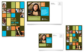 Arts Council & Education - Postcard Template Design Sample