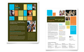 Arts Council & Education - Sales Sheet Sample Template