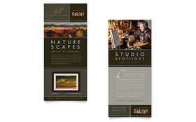 Art Gallery & Artist - Rack Card Template