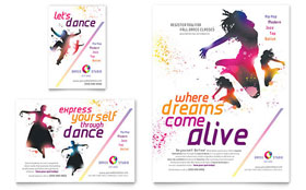 Kid's Dance Studio - Flyer & Ad Template Design Sample