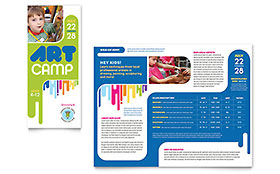 Kids Art Camp - Print Design Brochure Template