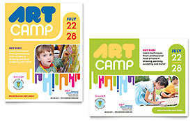 Kids Art Camp - Poster Sample Template