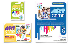 Kids Art Camp - Print Ad Sample Template