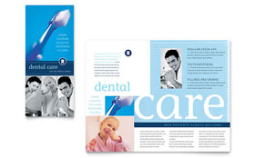 Dentist Office - Apple iWork Pages Brochure Template