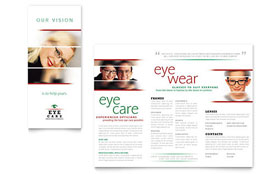 Optometrist & Optician - Microsoft Publisher Brochure Template