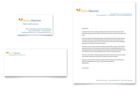 Medical Practice - Business Card & Letterhead Template Design Sample