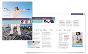 Medical Insurance Company - Brochure Template Design Sample