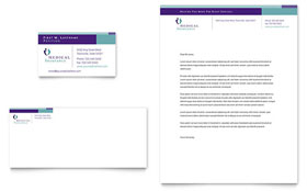 Medical Insurance Company - Business Card & Letterhead Template Design Sample