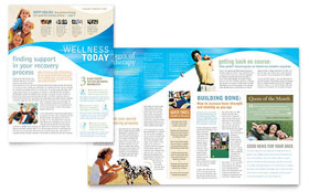 Physical Therapist - Newsletter Template Design Sample