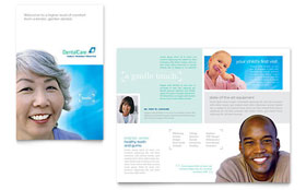 Dental Care - Pamphlet Template
