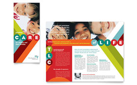 Pediatrician & Child Care - Brochure Template Design Sample