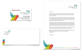 Pediatrician & Child Care - Business Card & Letterhead Template Design Sample