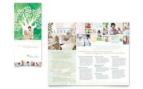 Elder Care & Nursing Home - Brochure Template Design Sample