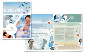 Medical Research - Brochure Template Design Sample