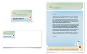 Medical Research - Letterhead Sample Template