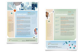 Medical Research - Sales Sheet Sample Template