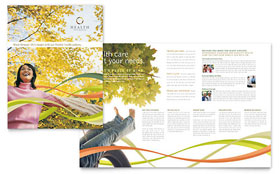 Health Insurance Company - Brochure Template Design Sample