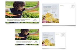 Health Insurance Company - Postcard Template Design Sample