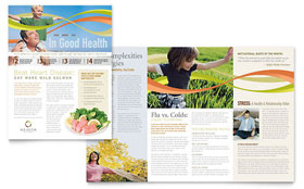 Health Insurance Company - Newsletter Template Design Sample