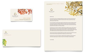 Health Insurance Company - Business Card & Letterhead Template