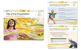 Health Insurance Company - PowerPoint Presentation Template Design Sample