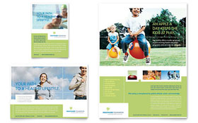 Healthcare Management - Print Ad Template