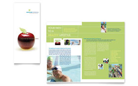 Healthcare Management - Apple iWork Pages Tri Fold Brochure Template