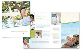Medical Clinic - Brochure Template Design Sample