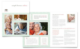 Senior Care Services - Microsoft Word Brochure Template
