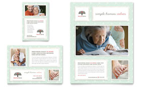 Senior Care Services - Leaflet Sample Template