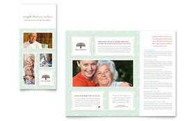 Senior Care Services - Microsoft Publisher Tri Fold Brochure Template