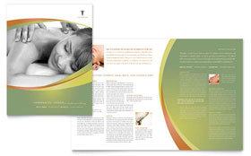 Massage & Chiropractic - Brochure Template Design Sample