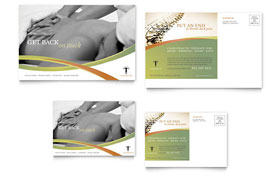 Massage & Chiropractic - Postcard Template Design Sample