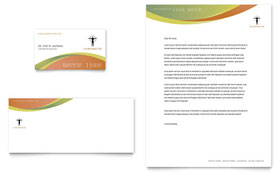 Massage & Chiropractic - Business Card & Letterhead Template Design Sample