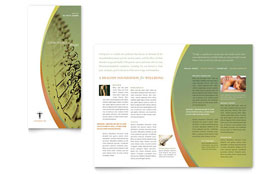 Massage & Chiropractic - Apple iWork Pages Tri Fold Brochure Template