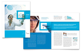 Science & Chemistry - CorelDRAW Brochure Template
