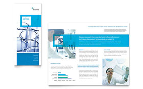 Science & Chemistry - Microsoft Word Tri Fold Brochure Template