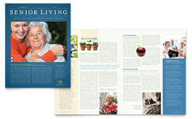 Senior Living Community - Newsletter Template Design Sample
