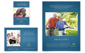 Senior Living Community - Flyer & Ad Template Design Sample