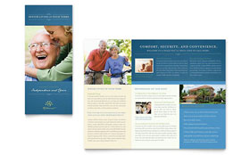 Senior Living Community - Apple iWork Pages Tri Fold Brochure Template