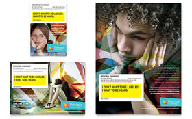 Adolescent Counseling - Flyer & Ad Template Design Sample