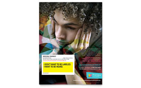 Adolescent Counseling - Flyer Template Design Sample