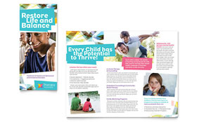Adolescent Counseling - Tri Fold Brochure Template Design Sample