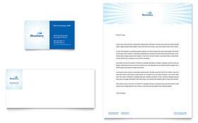 Family Dentistry - Business Card & Letterhead Template Design Sample