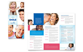 Family Dentistry - Tri Fold Brochure Template Design Sample