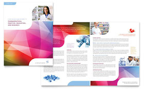 Pharmacy School - Brochure Template Design Sample